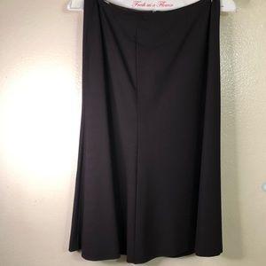 Calvin Klein Flare Skirt, brown, size 2